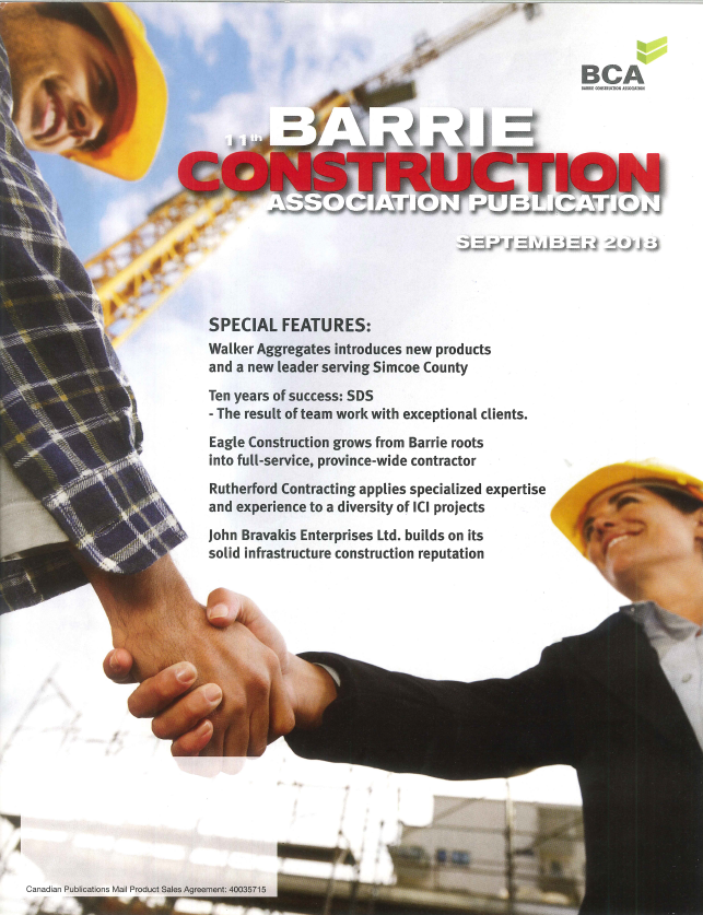 Rutherford Contracting in Barrie Construction News